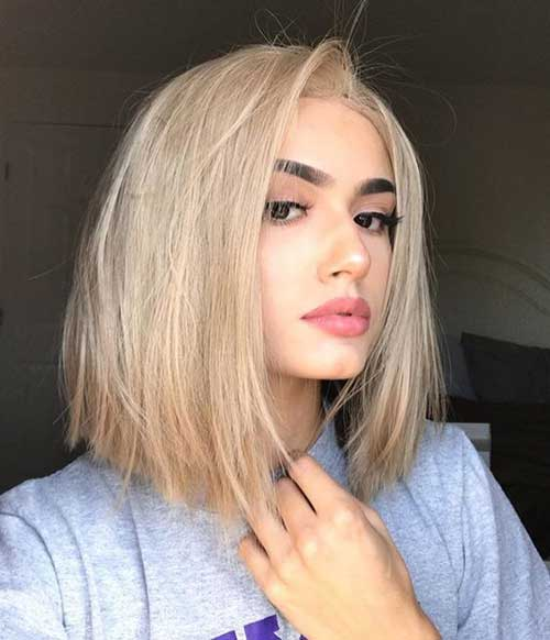 Blond-2019-Trendy-Color Latest Trend Hair Color Ideas for Short Hair