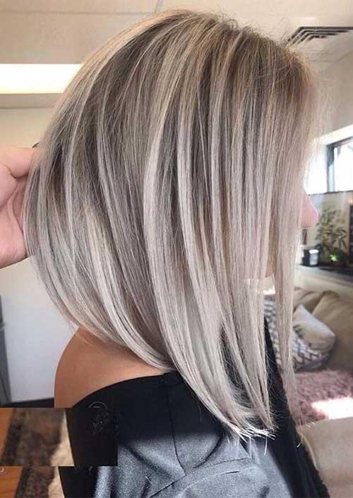 Blond-Balayage-Bob Modern Short Blonde Hairstyles for Ladies