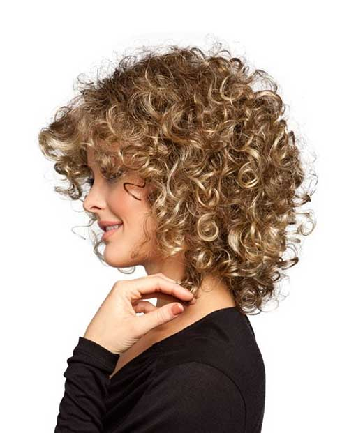 Blonde-Short-Hair-with-Curly-Hairstyle Short and Curly Hairstyles 2019