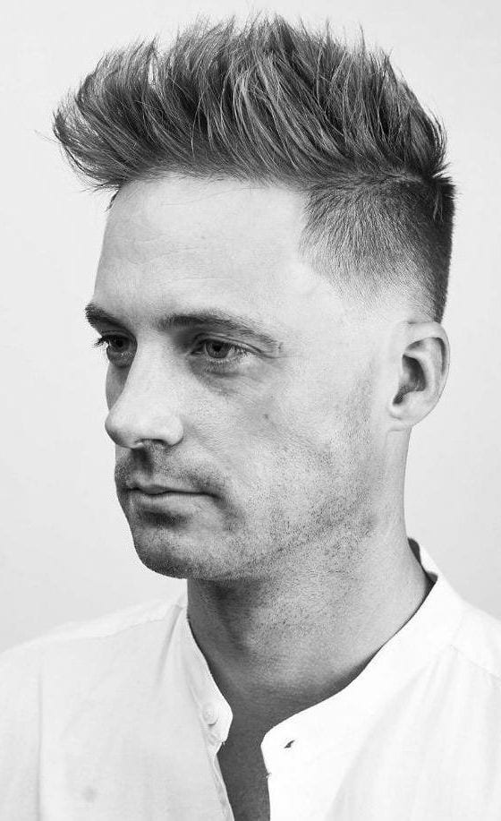Brushed-Up-with-Taper-Fade Stylish Undercut Hairstyle Variations For 2019