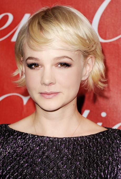 Carey-Mulligan-Short-Hairstyles-Soft-blonde-bob Popular Short Hairstyles for Women 2019