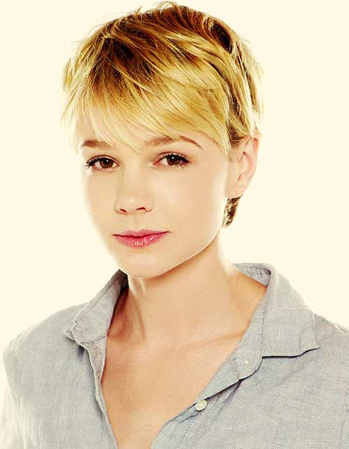 Carrie-Mulligan-short-blonde-hair Top Celebrity Short Haircuts