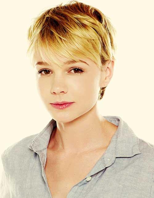 Carrie-Mulligan-short-blonde-hair Top Celebrity Short Haircuts
