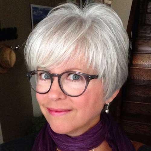 Cute-Bangs 2019 Short Haircuts for Older Women