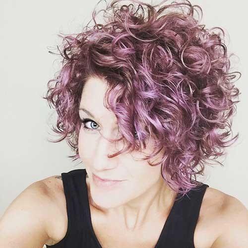 Cute-Curled-Short-Hair Cute Short Haircuts For Curly Hair