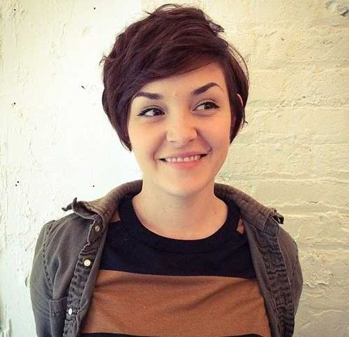 Cute-Pixie-Cut-for-Round-Faces Short Haircuts for Round Face Shape