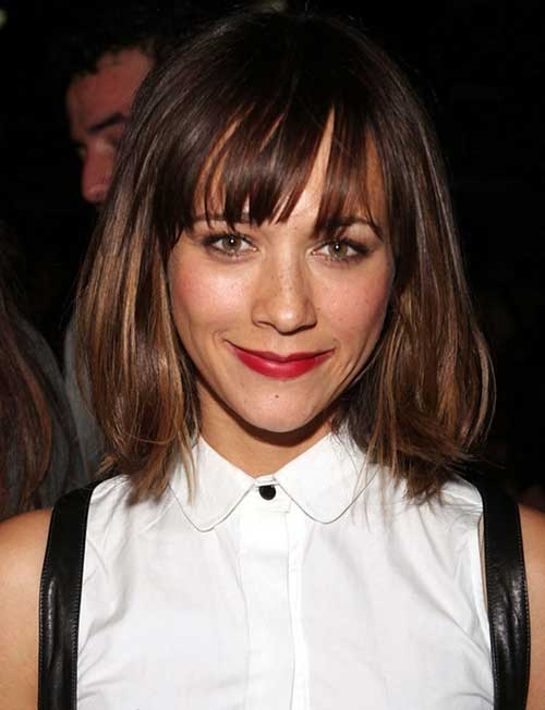 Cutest-Medium-to-Short-Hairstyle-with-Bangs Short Medium Hairstyles 2019