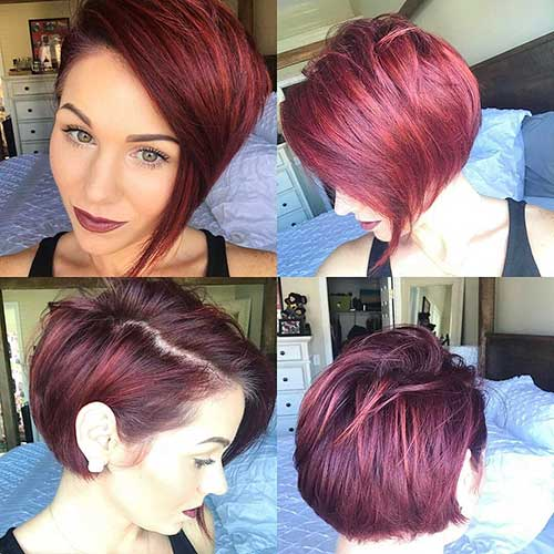 Dark-Red-Hair Eye-Catching Short Red Hair Ideas to Try