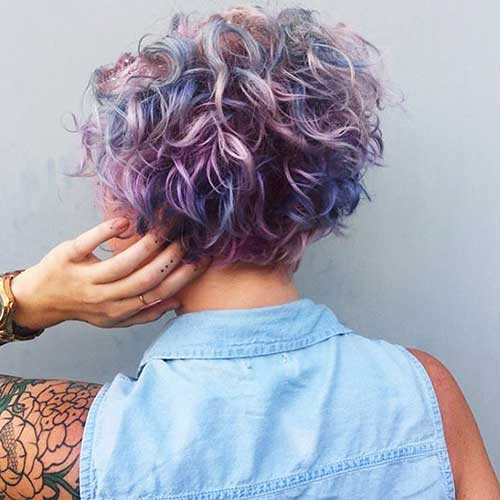 Different-Hair-Colors-on-Curly-Short-Hair Alluring Short Curly Hair Ideas for Summertime