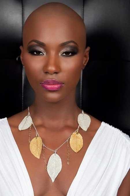 Dramatic-No-Hair-Look Nice Short Haircuts for Black Women