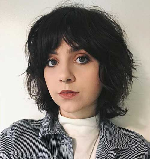 Edgy-Haircut-for-Round-Faces Best Pics of Layered Short Hair for Round Face