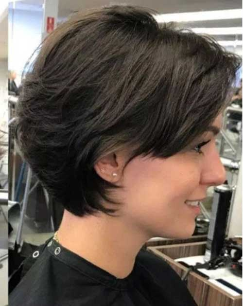 Feathered-Haircut-for-Thick-Hair Latest Short Bob Haircuts for Women