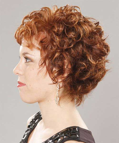 Ginger-Layered-Short-Curly-Haircut Best Short Layered Curly Hair