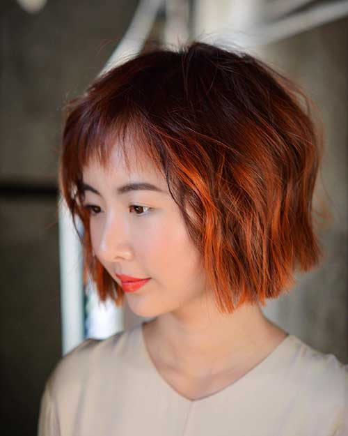 Gorgeous-Short-Bob-with-Red-Ombre Eye-Catching Short Red Hair Ideas to Try