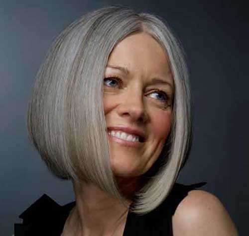 Grey-Bob-Hairstyle-for-Older-Women Bob Hairstyles for Older Ladies