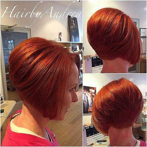 Inverted-Bob-Short-Nape Latest Short Bob Haircuts for Women