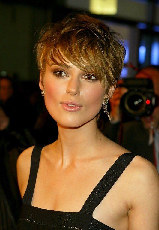 Keira-Knightley-Sexy-Messy-Short-Straight-Haircut-with-Bangs Popular Short Hairstyles for Women 2019