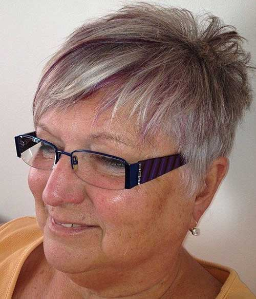 Layered-Pixie-Cut Short Hairstyles for Older Women with Thin Hair