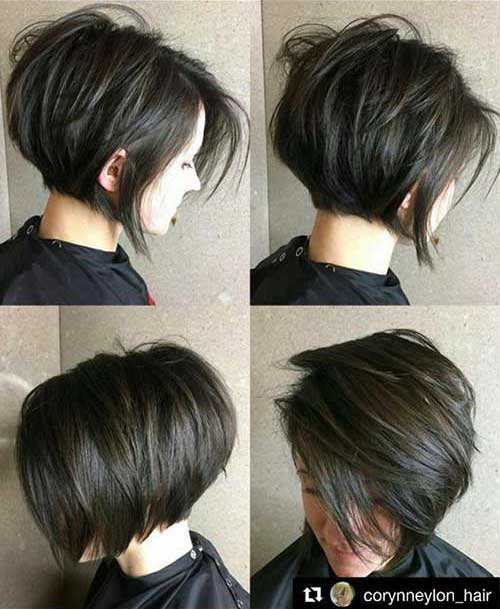 Layered-Short-Haircut-Brunette Charming Short Brunette Hairstyles