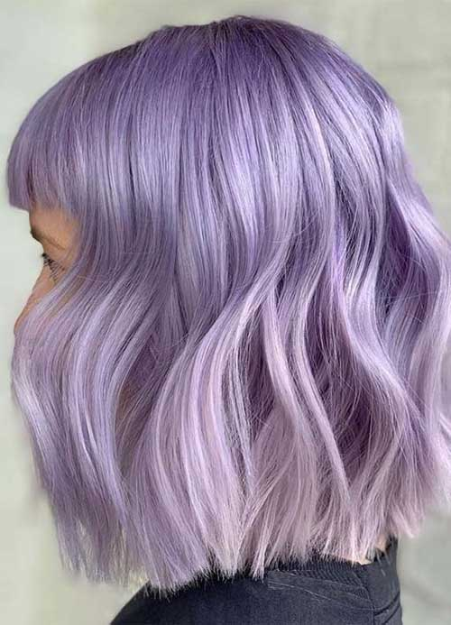 Lilac-Hair-Colo-for-Short-Hair Latest Trend Hair Color Ideas for Short Hair