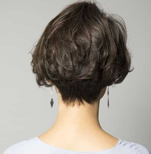Messy-Hair-Style Latest Short Bob Haircuts for Women
