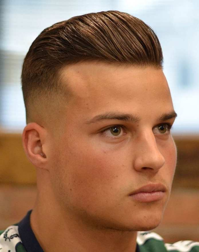 Mid-Skin-Fade-Short-Pompadour Stylish Undercut Hairstyle Variations For 2019