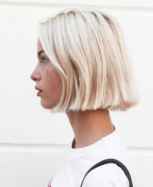 Modern-Bob Modern Short Blonde Hairstyles for Ladies