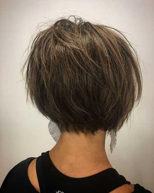 Modern-Style Charming Short Brunette Hairstyles