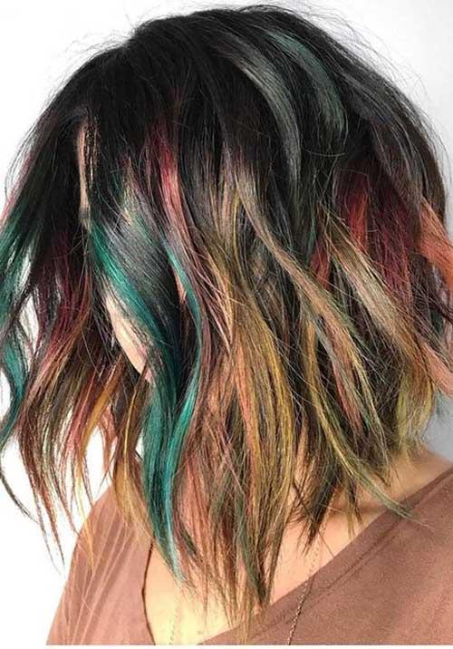 Multi-Hair-Colors Latest Trend Hair Color Ideas for Short Hair