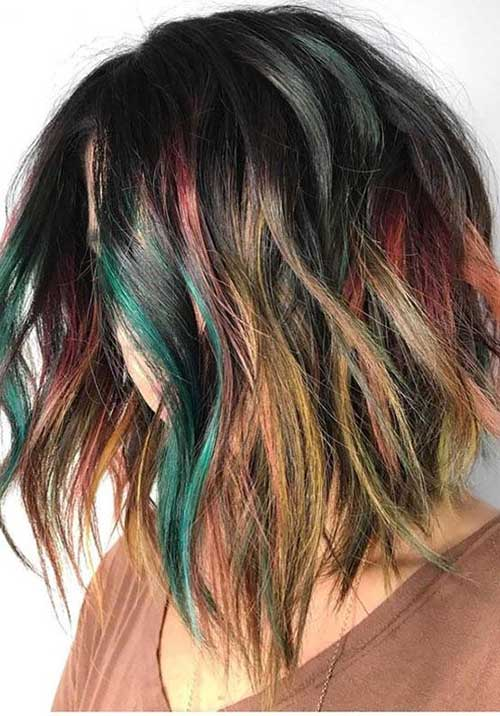 Multi-Hair-Colors Latest Trend Hair Color Ideas for Short Hair