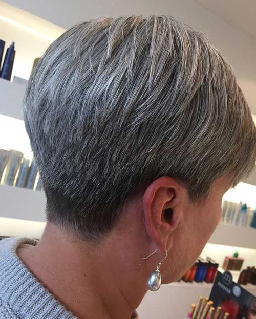 Natural-Gray-Hair 2019 Short Haircuts for Older Women