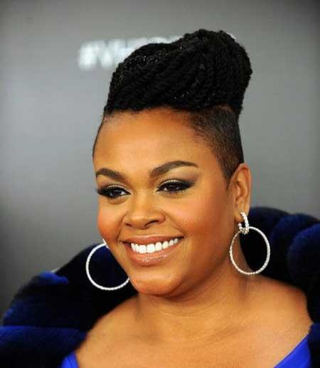 Neatly-Styled-Dark-Braids Short Hairstyles for Black Women