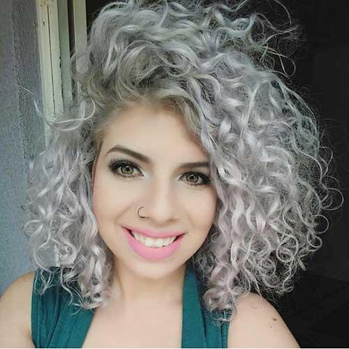 Pastel-Long-Bob Alluring Short Curly Hair Ideas for Summertime
