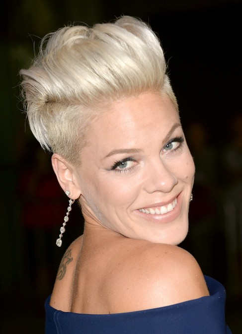 Pink-Short-Fauxhawk-Haircut-for-Women Popular Short Hairstyles for Women 2019