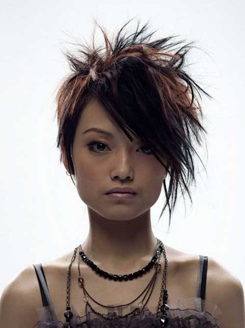 Punk-Messy-Short-Hair-Idea-for-Girls Best Punky Short Haircuts