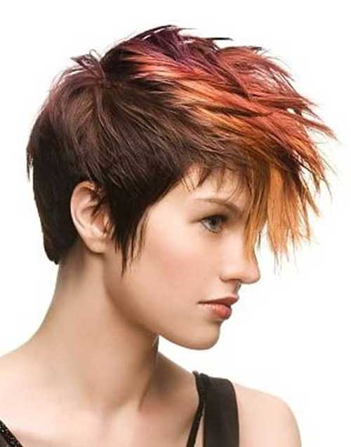 Punk-Short-Hair-Color-for-Stylish-Girls Best Punky Short Haircuts