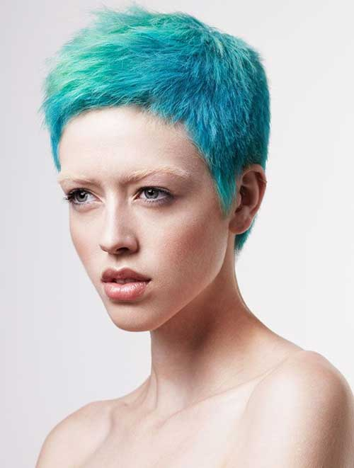 Punky-Short-Pixie-Blue-Hair-for-Girls Best Punky Short Haircuts