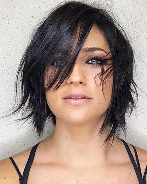 Razored-Layers Best Pics of Layered Short Hair for Round Face