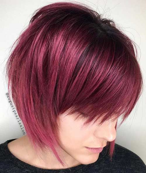 Red-Bob-with-Bangs Best Bob Haircuts You will Love 2019