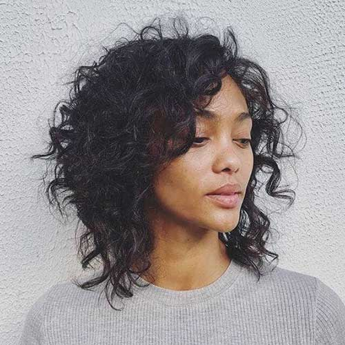 Shaggy-Natural-Haircut Latest Short Natural Hairstyles for Black Women