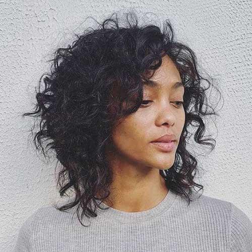 Shaggy-Natural-Haircut Latest Short Natural Hairstyles for Black Women