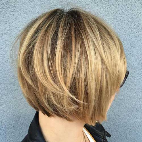 Short-Balayage-Colored-Layered-Bob-Haircut Best Bob Haircuts You will Love 2019