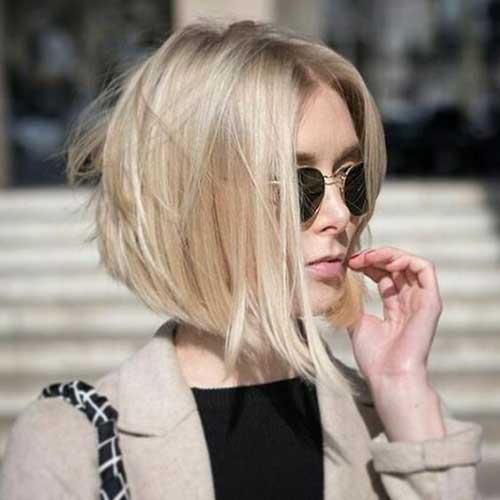 Short-Blond-Bob Modern Short Blonde Hairstyles for Ladies