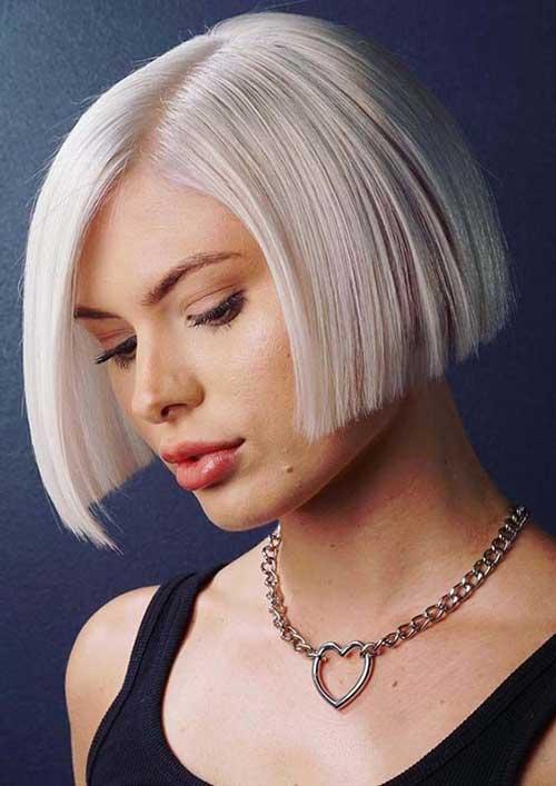 Short-Blonde-Blunt-Bob-Hairstyle Modern Short Blonde Hairstyles for Ladies