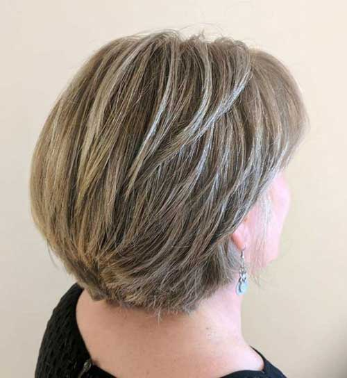 Short-Blonde-Hair-To-Grey 2019 Short Haircuts for Older Women