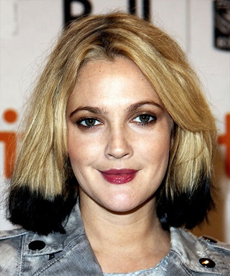Short-Blonde-Haircut-with-Black-Ends Short Haircuts and Color Ideas
