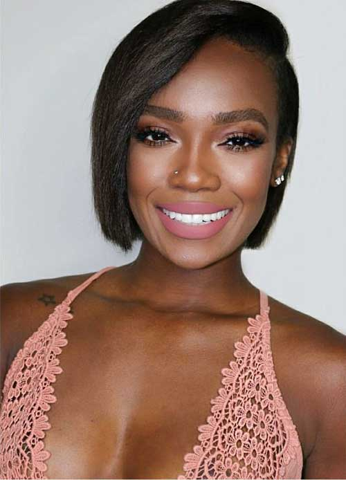 Short-Bob-Hairstyle-for-Black-Women-2019 Latest Short Natural Hairstyles for Black Women
