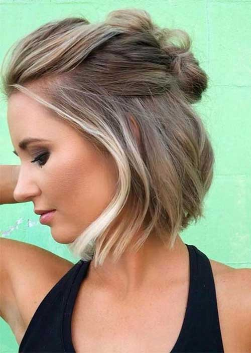 Short-Bob-Half-Up Latest Short Haircuts for Women - Short Hairstyle
