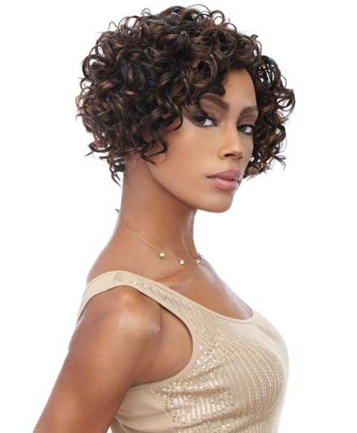 Short-Curly-Weave Beautiful Short Curly Weave Hairstyles 2019