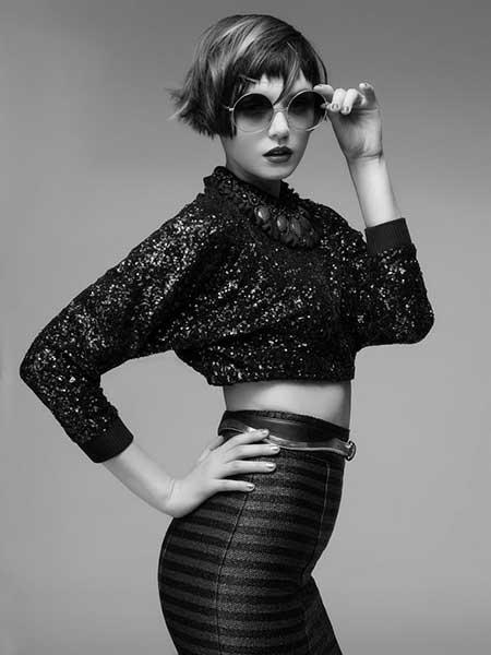 Short-Cute-Asymmetrical-Hair Short Trendy Hairstyles for Women
